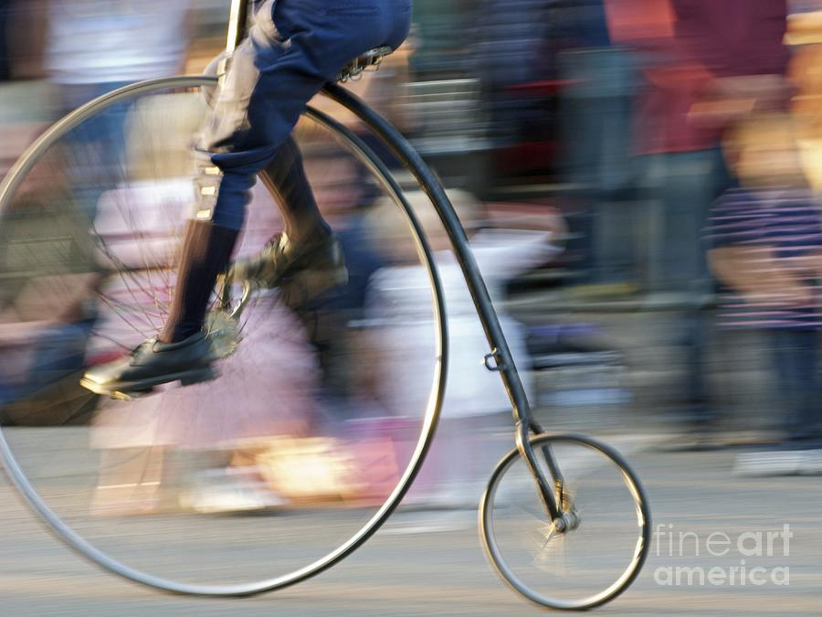 Bicycle Photograph - Pedaling Past by Ann Horn