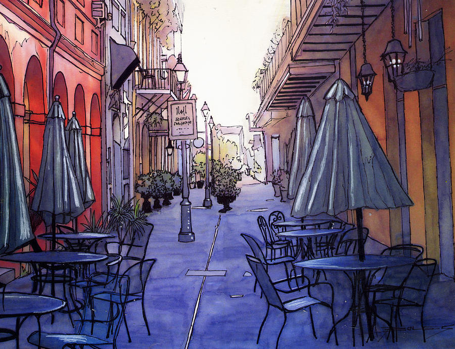 New Orleans Painting - Pedestrian Mall  212 by John Boles