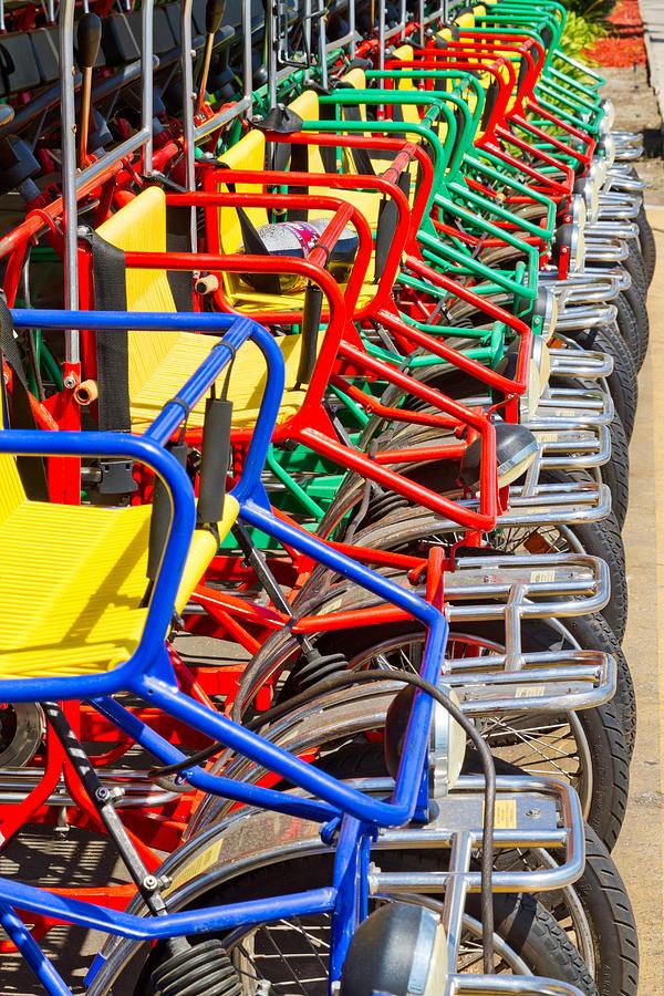 Pedal Photograph - Pedicars by Bernard  Barcos