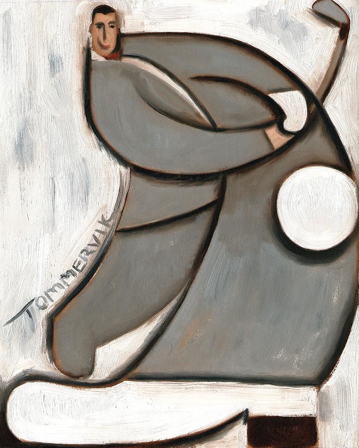 Peewee Painting - Pee-wee Herman Golf Swing Art Print by Tommervik
