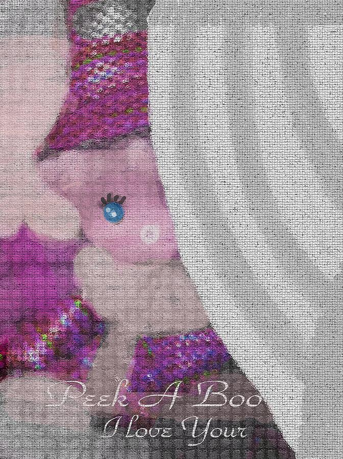 Baby Photograph - Peek A Boo I Love You by Sherris - Of Palm Springs