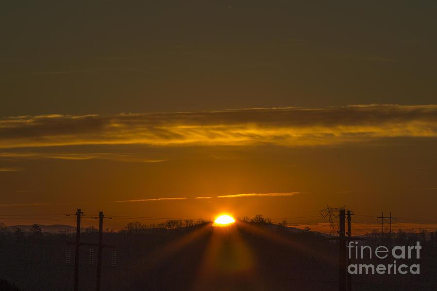 Mountain Sunrise Photograph - Peek-a-boo by Michael Waters