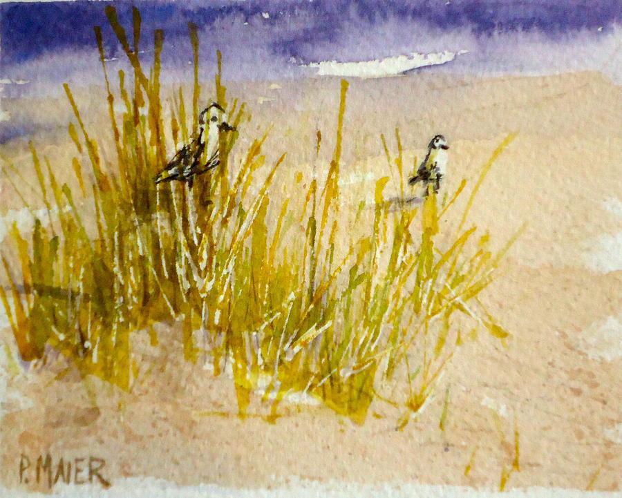 Ocean Painting - Peek a Boo by Pete Maier