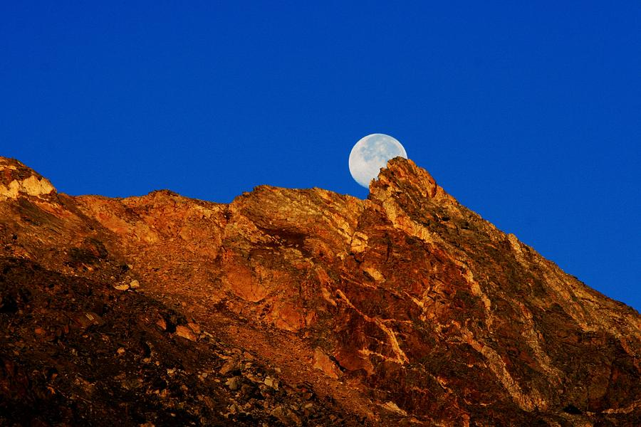 Full Moon Photograph - Peeking Full Moon by Rebecca Adams