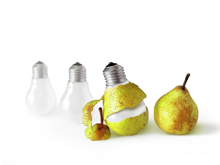 Pear Photograph - Peeled Bulb by Carlos Caetano