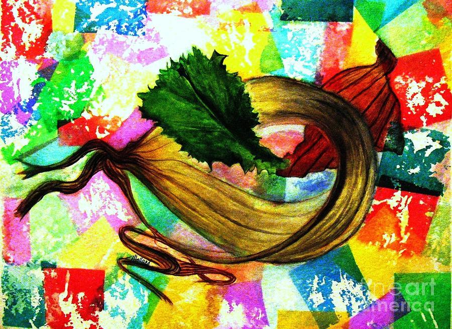 Peeled Onion Painting - Peeling Back The Layers by Hazel Holland