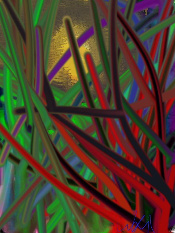 Eye Digital Art - Peering Through by Bill Minkowitz