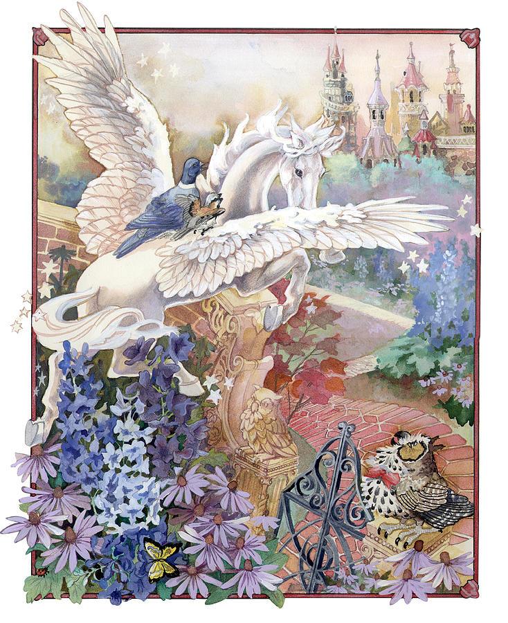 Pegasus Painting - Pegasus by Lynette Yencho