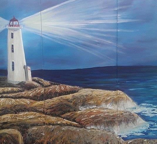 Nova Scotia Painting - Peggys Cove by Donna Bird
