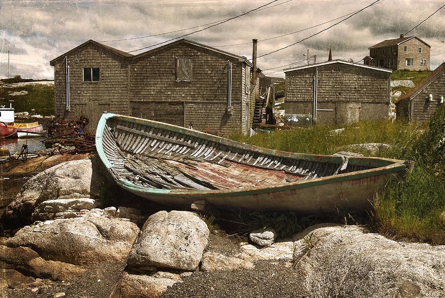 Rustic Photograph - Peggys Cove Nova Scotia  by Cindy Rubin