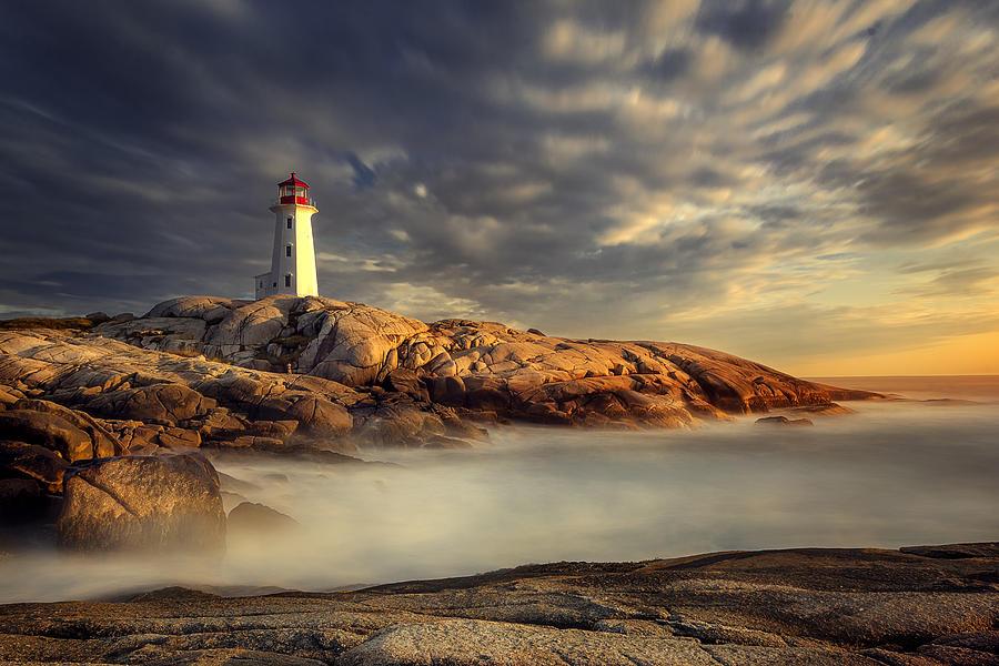 Peggy's Cove Photograph - Peggys Cove Nova Scotia by Magda  Bognar