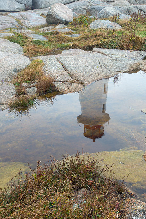Peggy's Cove Photograph - Peggys Cove Reflection by Gordon  Grimwade