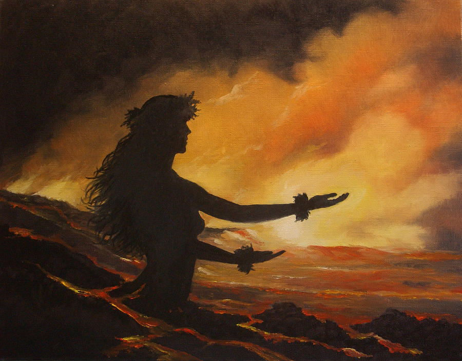 Pele Painting - Pele Rejoicing by Wallace Kong