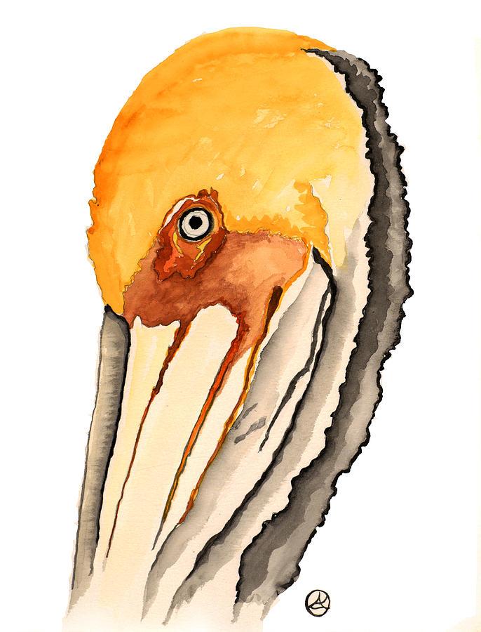 Pelican Painting by Alexandra  Sanders
