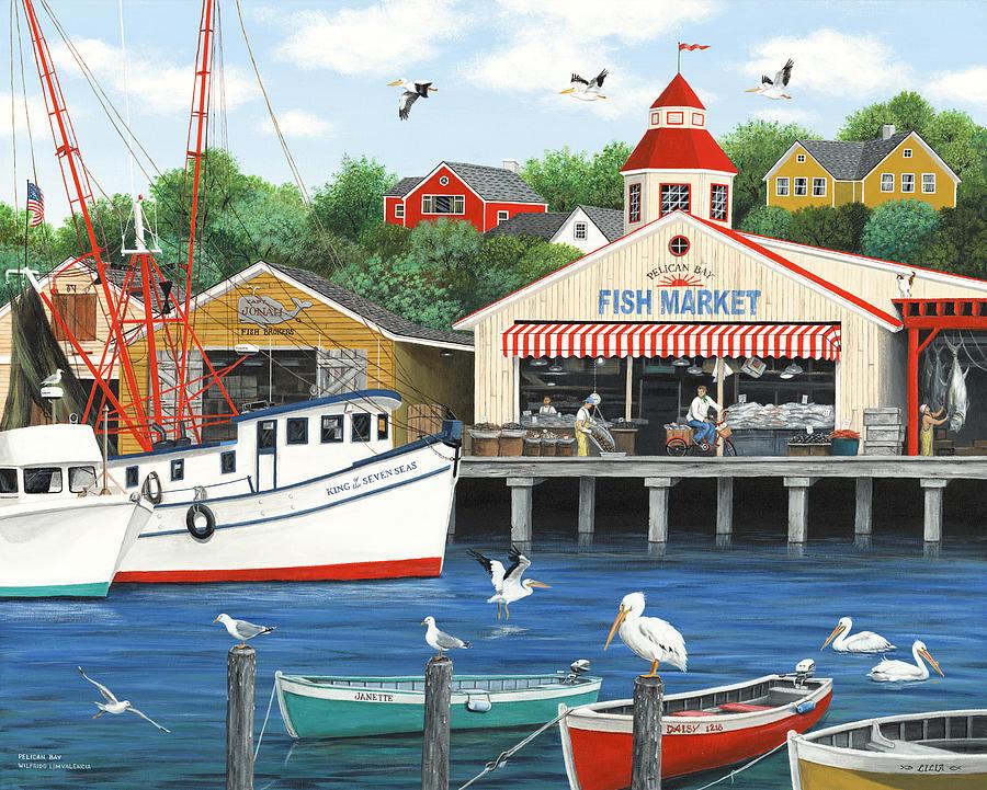 Folkart Painting - Pelican Bay by Wilfrido Limvalencia