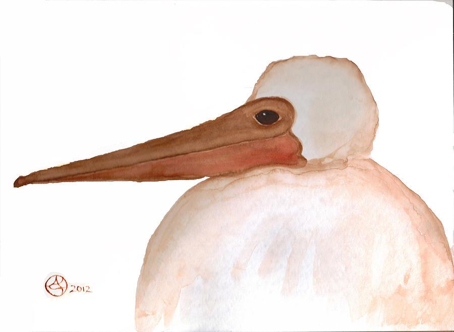 Brown Pelican Tapestry - Textile - Pelican Chick by Alexandra  Sanders