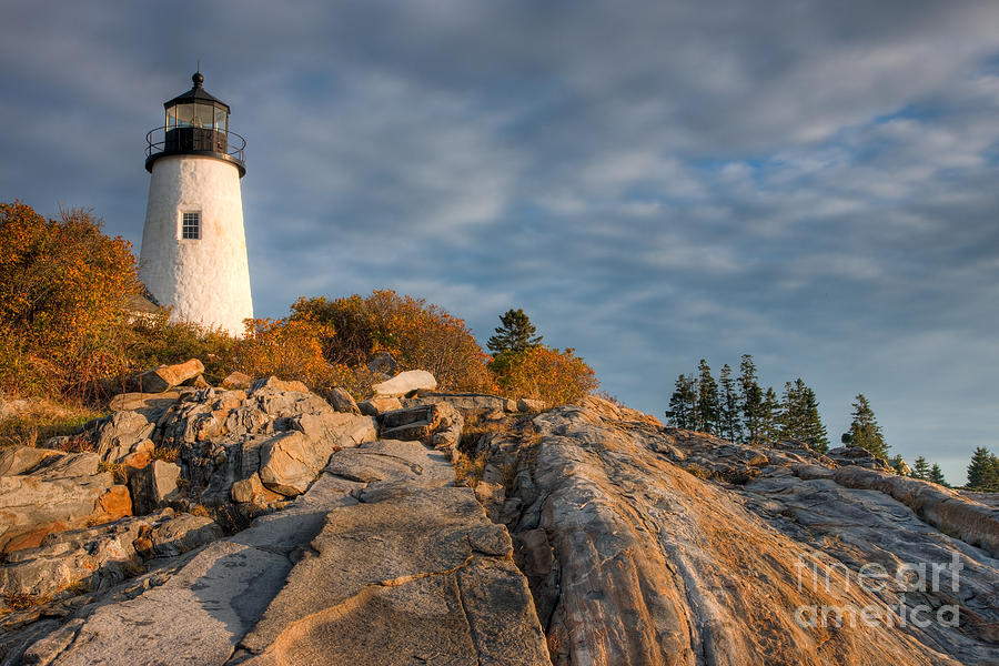 America Photograph - Pemaquid Point Light Vi by Clarence Holmes