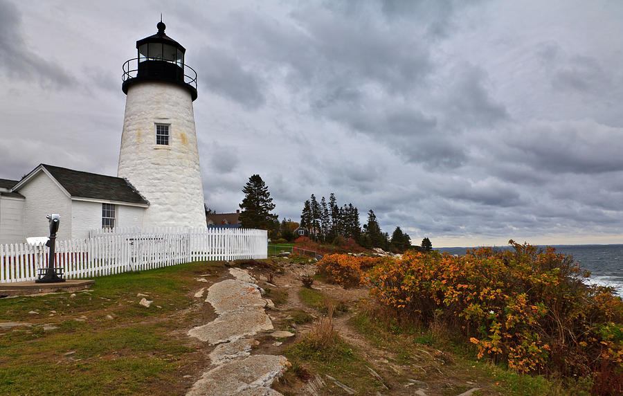 Stormy Autumn Day at Pemaquid Point Lighthouse by David Smith