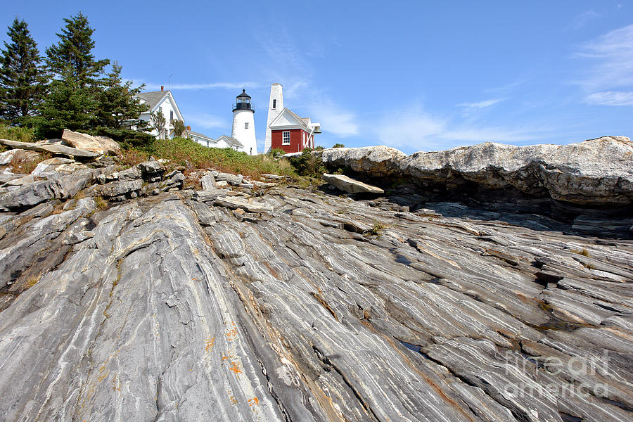 Maine Photograph - Pemaquid Point Lighthouse In Maine by Olivier Le Queinec