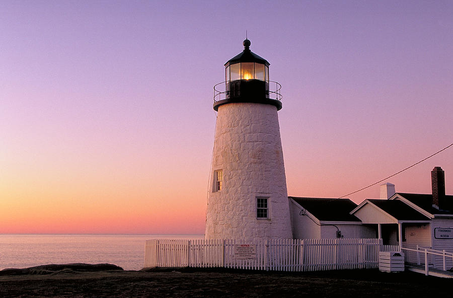 Lighthouse Photograph - Pemaquid Point Lighthouse in Maine by William Britten