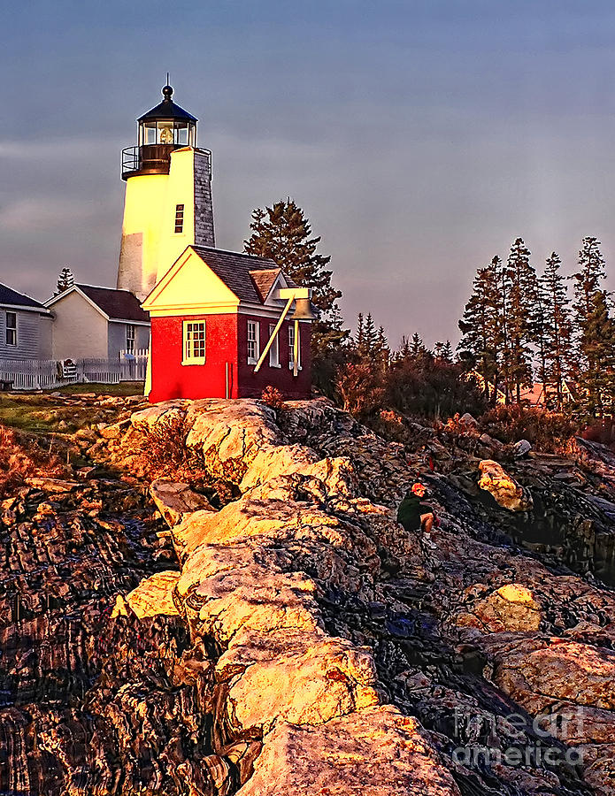Superb Atlantic Photograph   Pemaquid Point Lighthouse Maine By Nick Zelinsky
