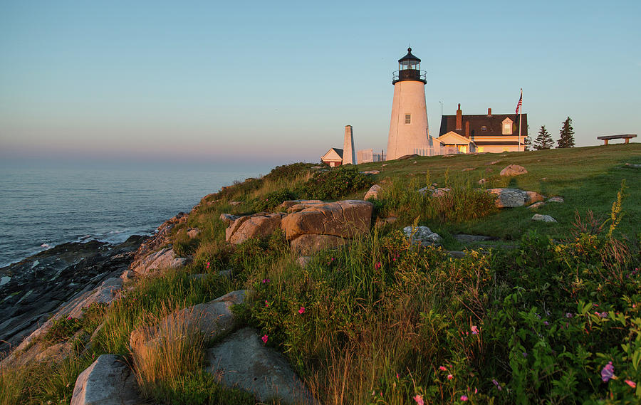 Pemaquid Point Maine Lighthouse Photograph by Dave Mention Photography