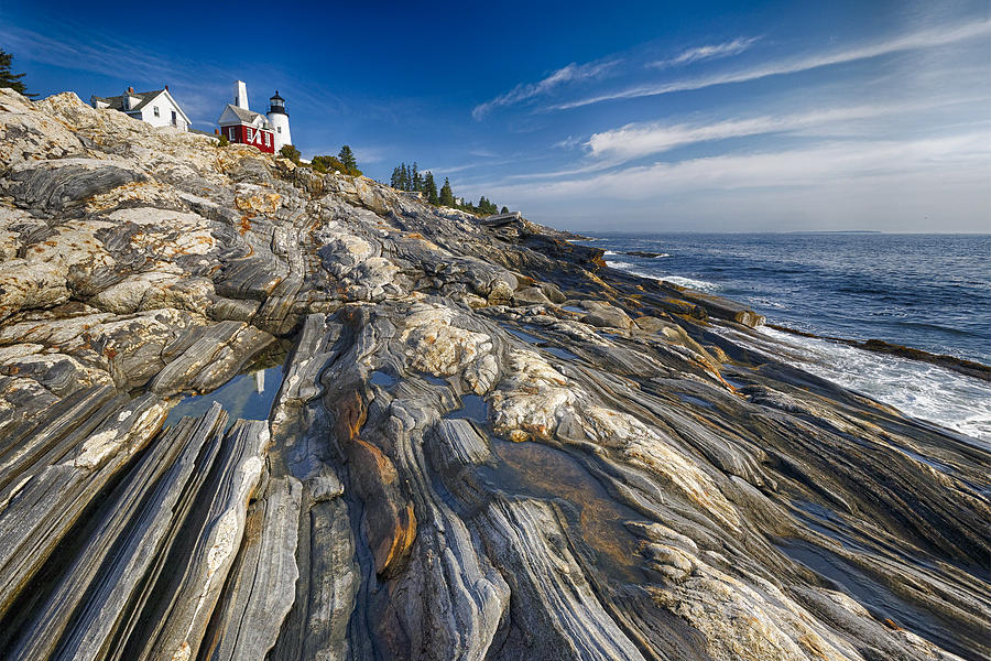 Atlantic Photograph - Pemaquid Point Scenic Maine by George Oze