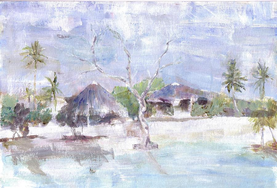 Pemba Bush Camp Painting by David  Hawkins