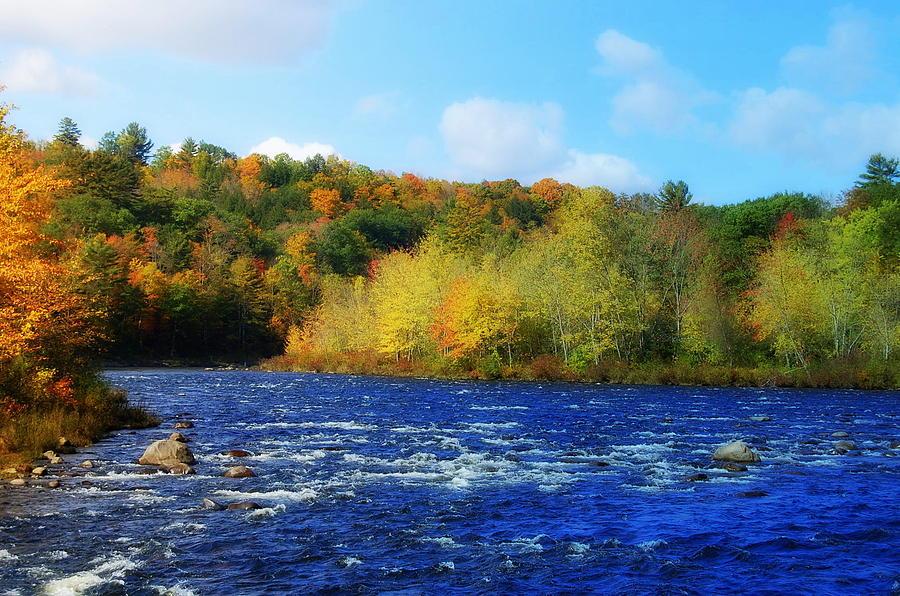 Franconia Photograph - Pemigewassett River by Mim White