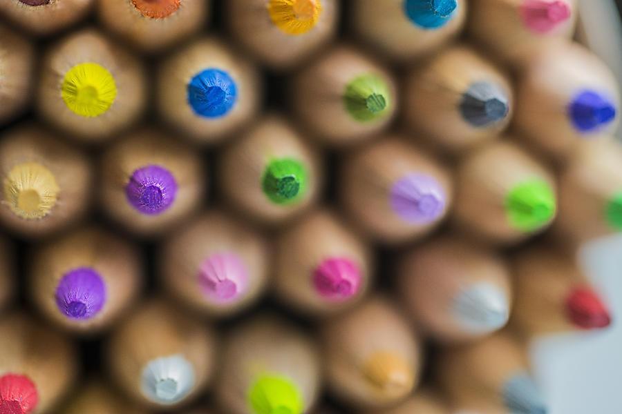 Pencils Colored Macro 3 Photograph