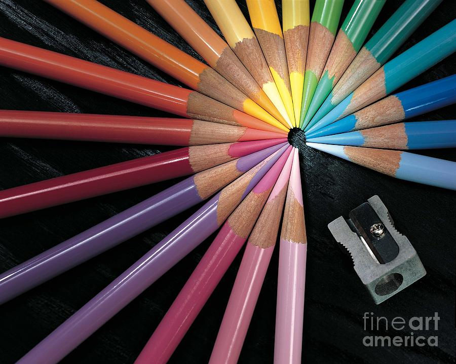 Colored Pencils Photograph - Pencils by Gary Gingrich Galleries