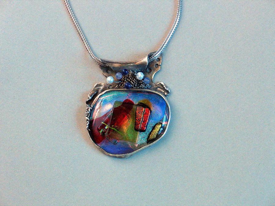Jewelry Glass Art - Pendant # 3 by Valentina Plishchina