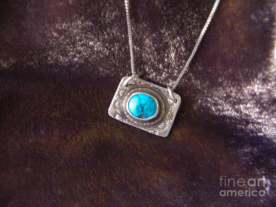 Turquoise Jewelry - Pendant With Turquoise by Patricia  Tierney