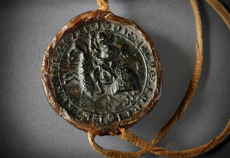 Wax Seal Photograph - Pendent Wax Seal Of The Council Of Calahorra by RicardMN Photography