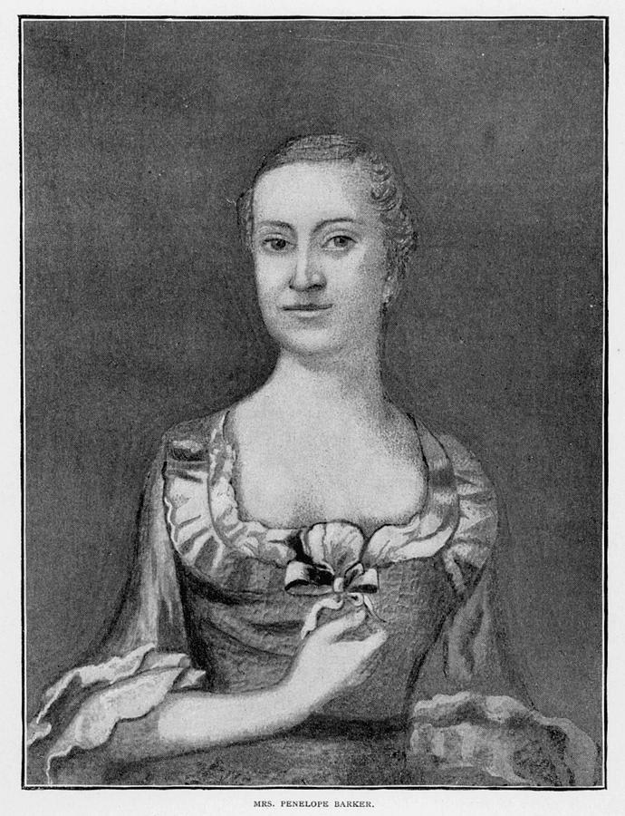 18th Century Painting - Penelope Barker (1728-1796) by Granger