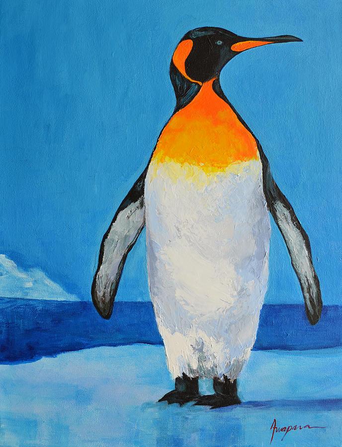 Penguin Painting - Penguin King Carl by Patricia Awapara