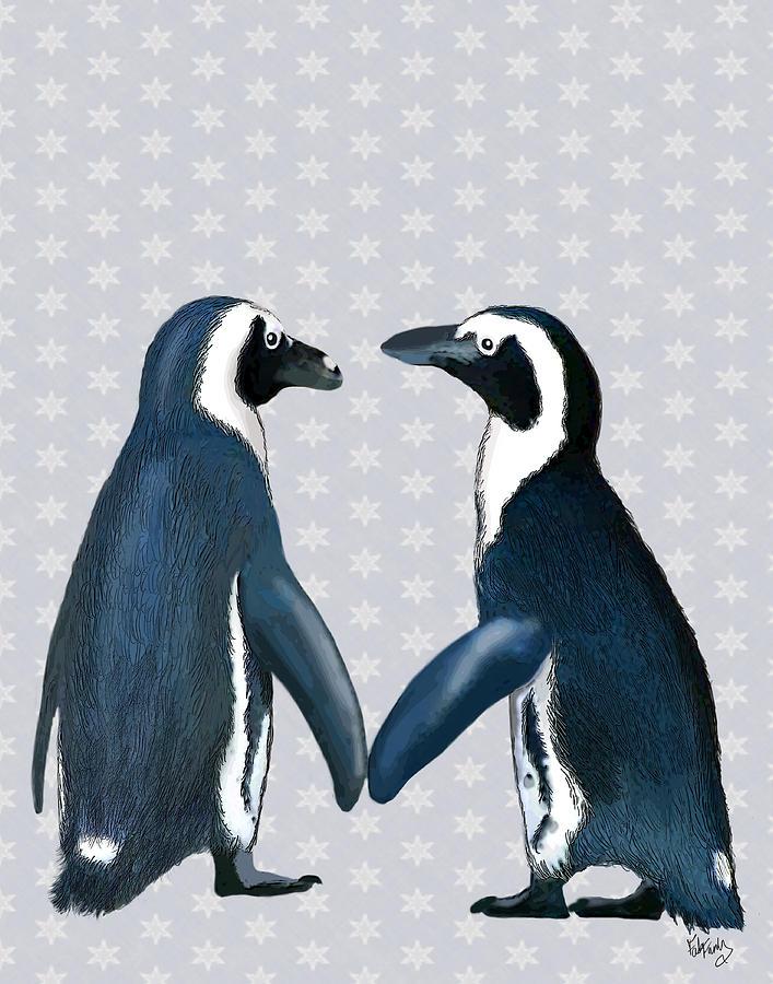 Penguins In Love Digital Art by Kelly McLaughlan