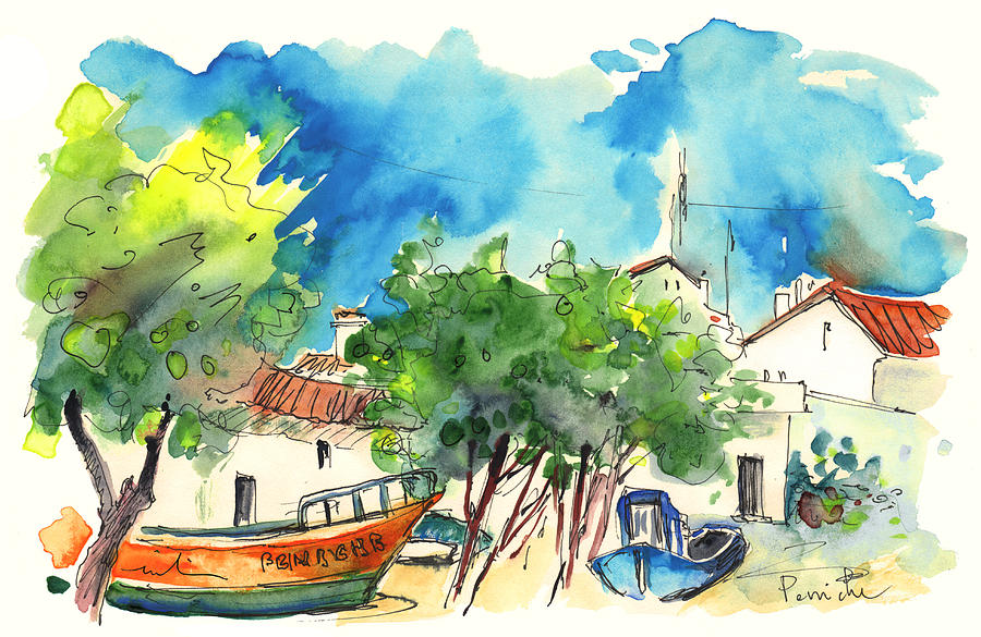 Portugal Painting - Peniche In Portugal 08 by Miki De Goodaboom