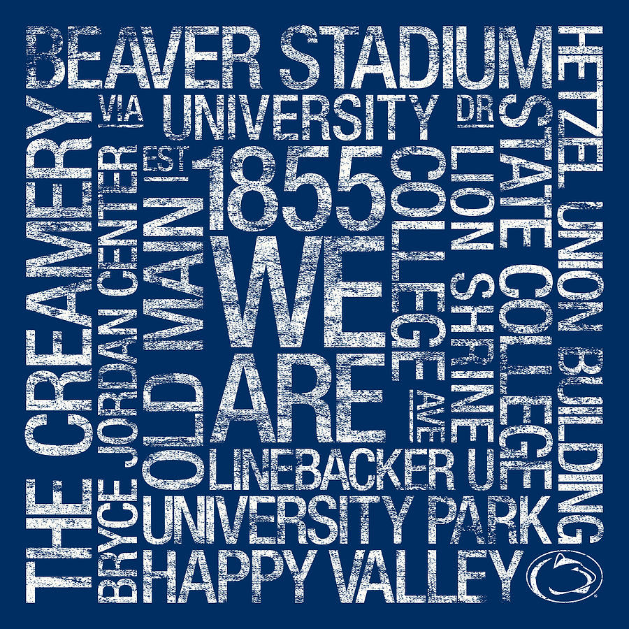 Photo Photograph - Penn State College Colors Subway Art by Replay Photos