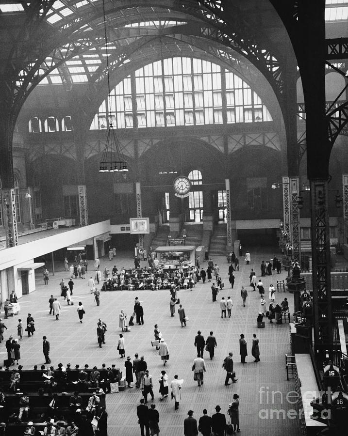 Historic Photograph - Penn Station Nyc 1957 by Van D Bucher