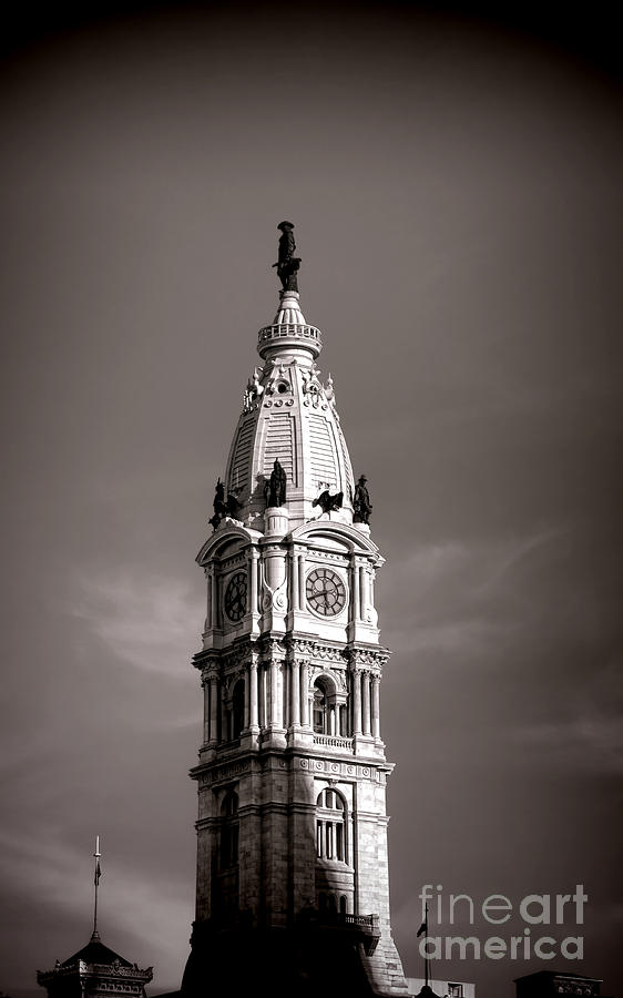 Philadelphia Photograph - Penn Watching by Olivier Le Queinec