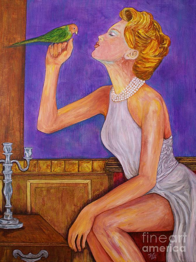 Portrait Painting - Penney Lane by Jane Chesnut