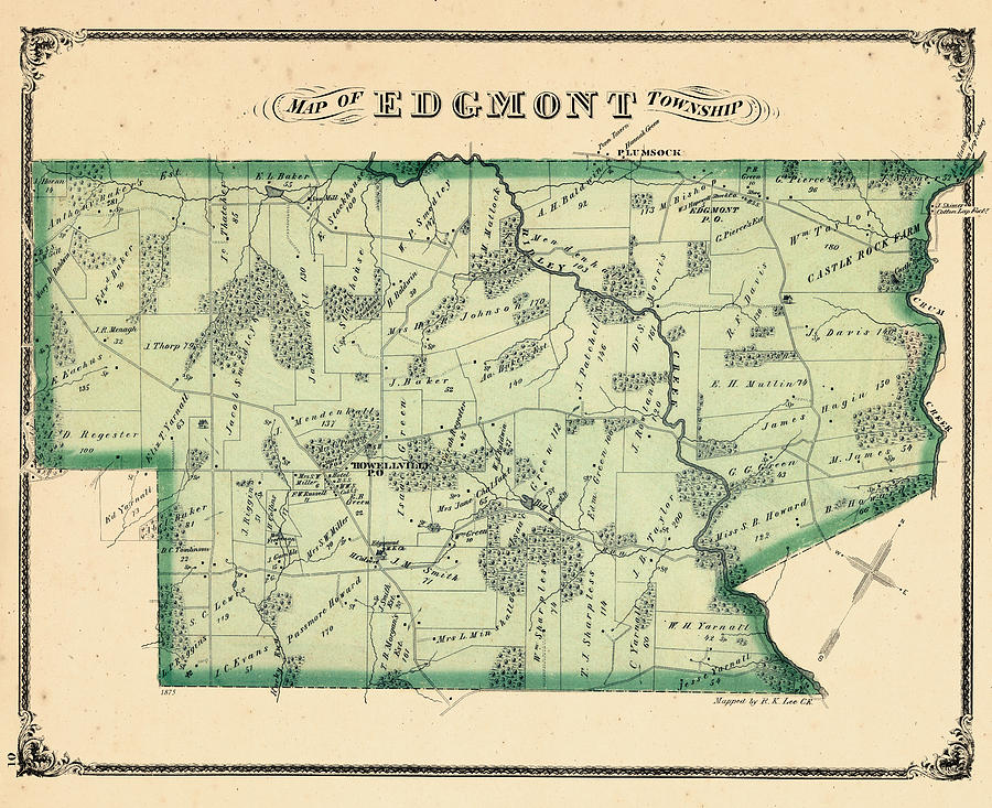 Delaware County Pa Map Of Townships on