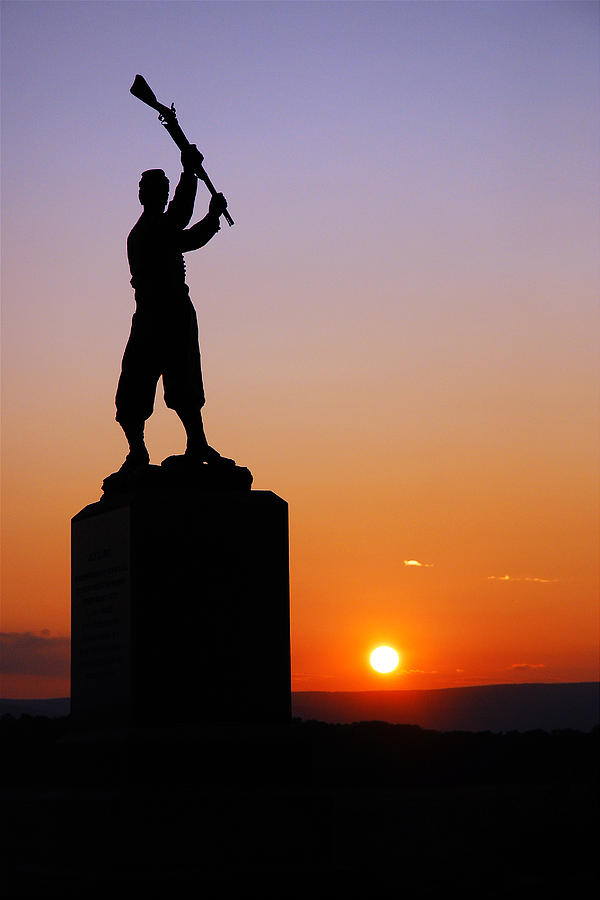 Gettysburg Photograph - Pennsylvania 72nd Memorial by James Kirkikis