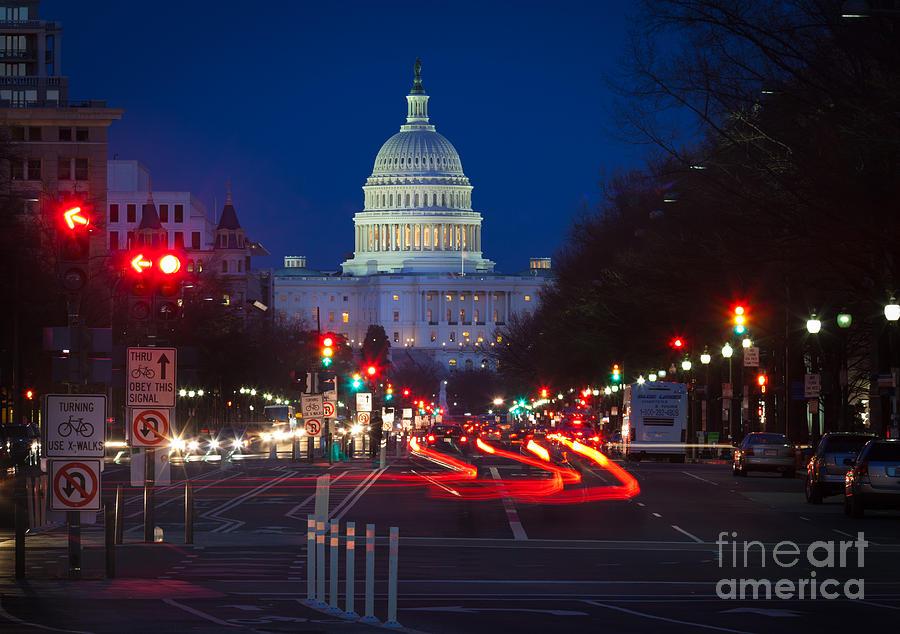 America Photograph - Pennsylvania Avenue by Inge Johnsson