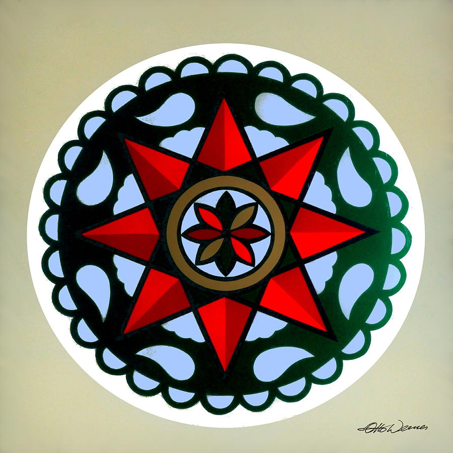 Pennsylvania dutch hex 1 painting by hanne lore koehler pennsylvania dutch hex signs painting pennsylvania dutch hex 1 by hanne lore koehler biocorpaavc Images