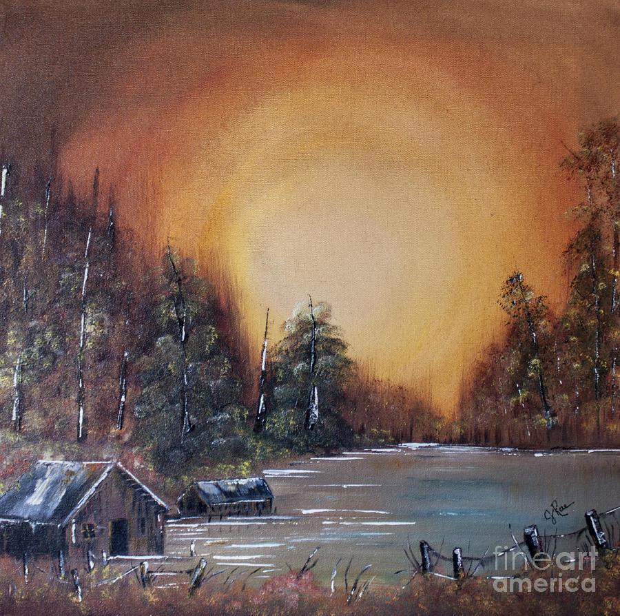 Reflection Painting - Pennsylvania Shenango Dawn In Oil by Janice Rae Pariza