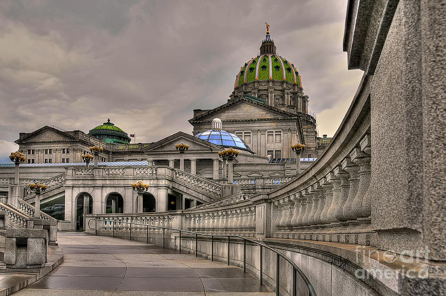 Architecture Photograph - Pennsylvania State Capital by Lois Bryan