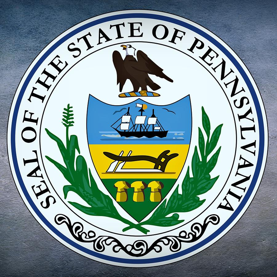 Pennsylvania Digital Art - Pennsylvania State Seal by Movie Poster Prints
