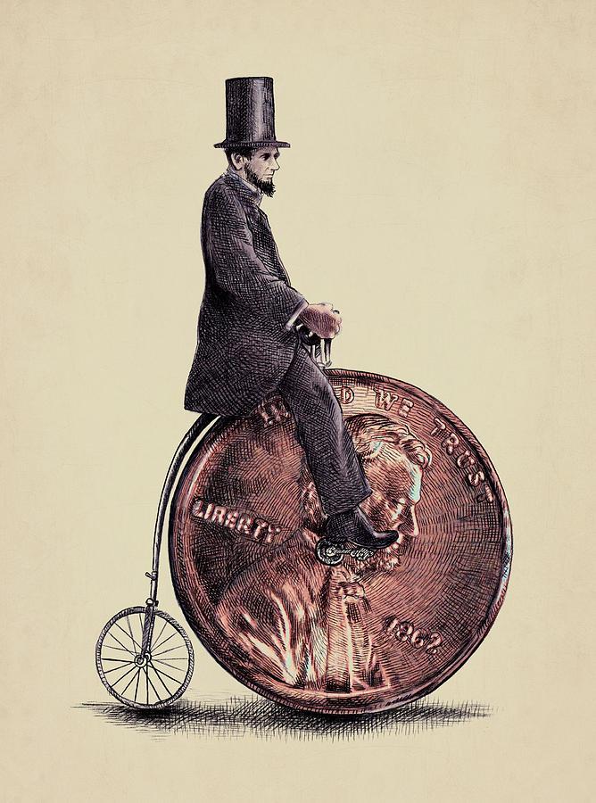 Abe Digital Art - Penny Farthing by Eric Fan